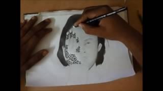 drawing hola , pencil art