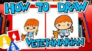 How To Draw A Veterinarian