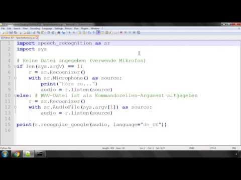 Python Crashkurs für Anfänger #21 | Spracherkennung