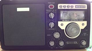 Eton S350DL on Radio Vatican 15570 khz