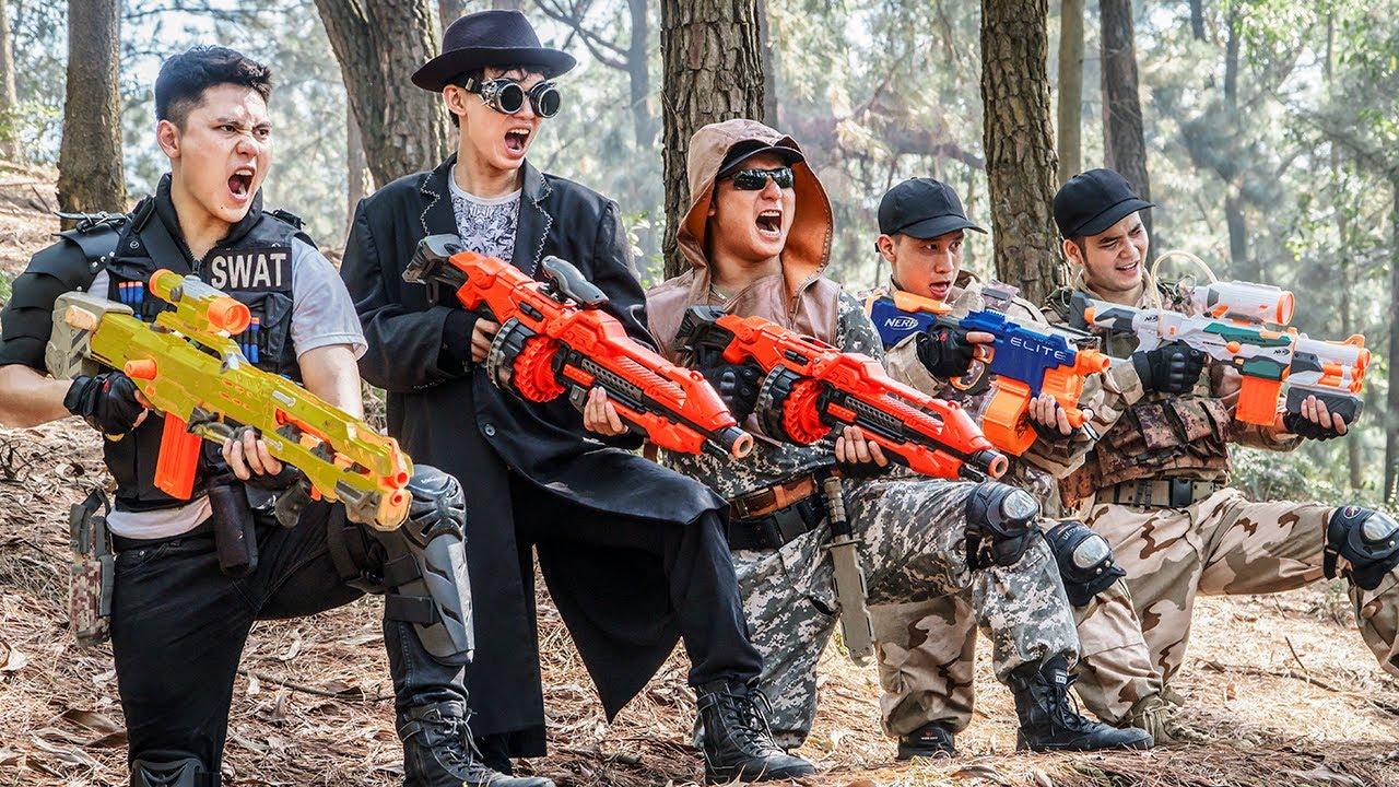 LTT Game Nerf War : Warriors SEAL X Nerf Guns Fight Criminals Group Braum Crazy Bandits Nerf Nice