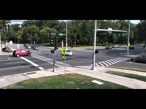 Crash at First and Forest Avenues, Riverside, Aug. 26, 2020