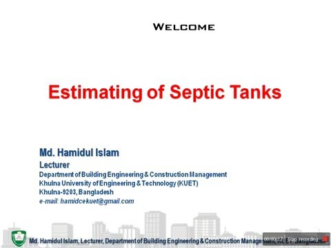 Septic Tanks, Basic Design & Estimating | Estimating Tutorial