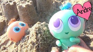 Ksi meritos aprenden colores y van a la playa - Muñecas y juguetes con Andre para niñas y niños