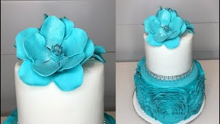 Cake decorating tutorials | RUFFLE fondant cake | Sugarella Sweets