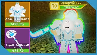 Buying *NEW* Angelic Guardian Outfit In Roblox Dungeon Quest