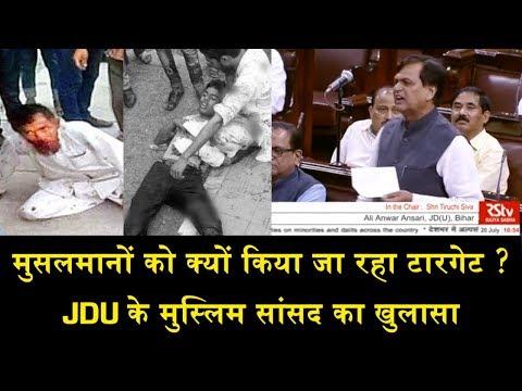 मुसलमानों को क्यों किया जा रहा टारगेट ?/JDU LEADER ALI ANWAR FULL SPEECH ON MOB LYNCHING