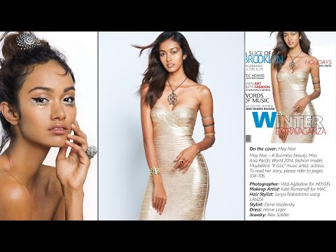 Miss ASIA - MAY MYAT NOE photographed by VITAL AGIBALOW for HENSEL. Making of: Magazine Cover