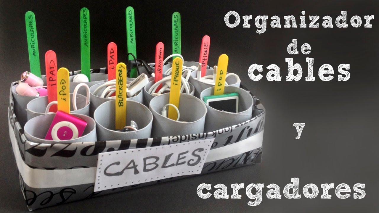 Organizador de cables y cargadores  Organizador con cajas