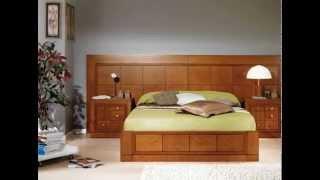 Dormitorios de matrimonio con canape arcon y camas de madera