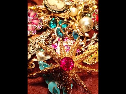 Jewelry my brooch & pin collection