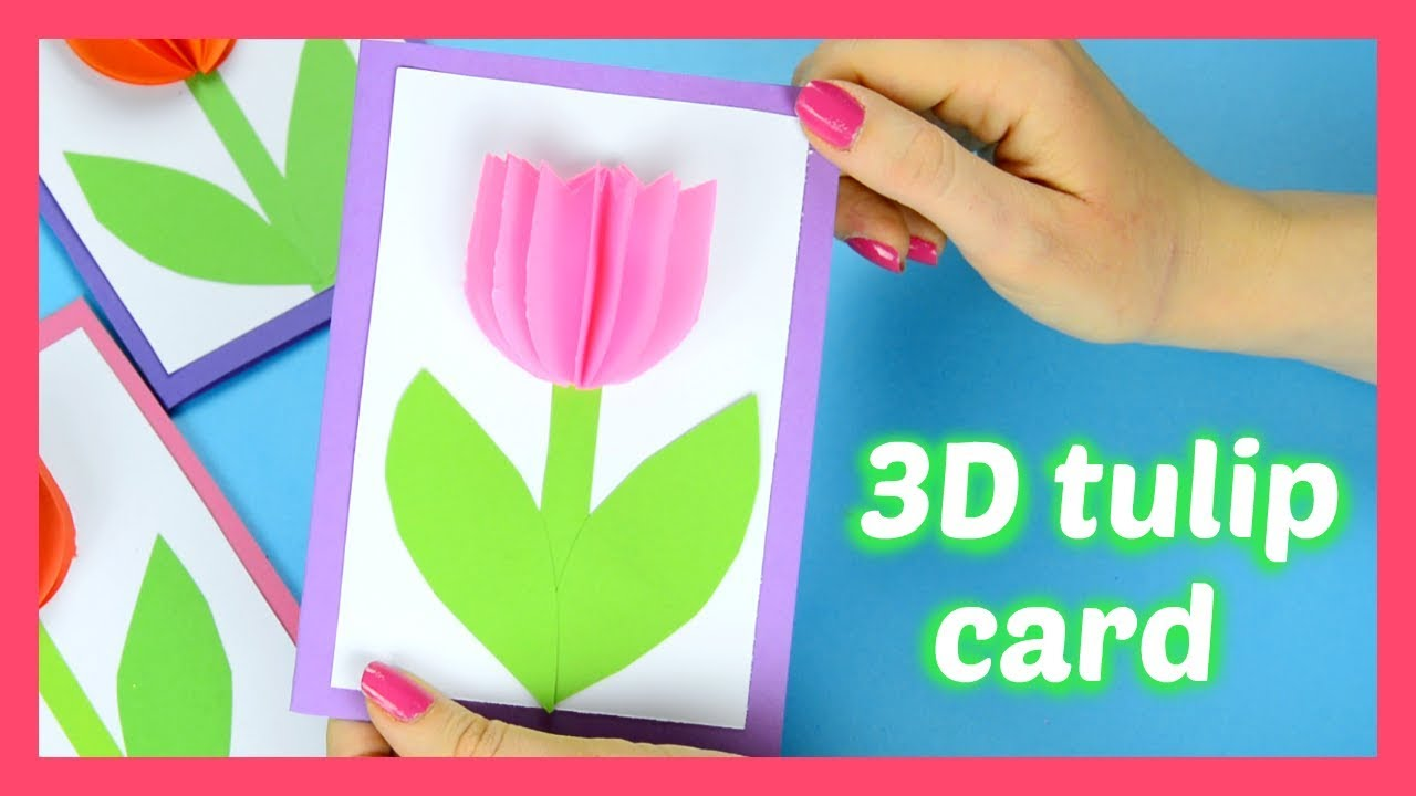 How to make a tulip card fun spring or mother 39 s day card Good ideas for mothers day card