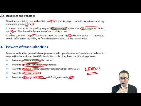 International Taxation Issues - CIMA F1 Financial Reporting