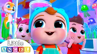 Baby at the Aquarium | Little Angel Kids Songs & Nursery Rhymes