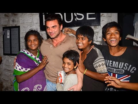 Salman Khan's Brother HUGS Street & Slum Children After A Party