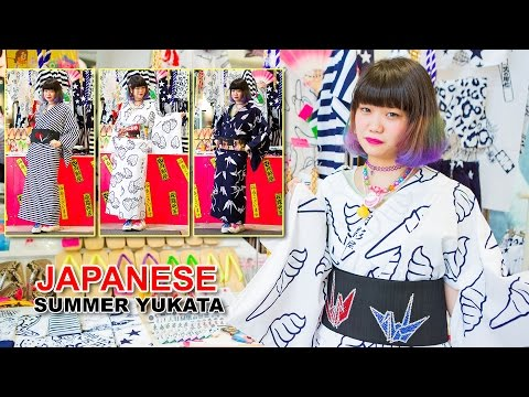 Japanese Summer Yukata Shopping in Harajuku at Tsukikageya