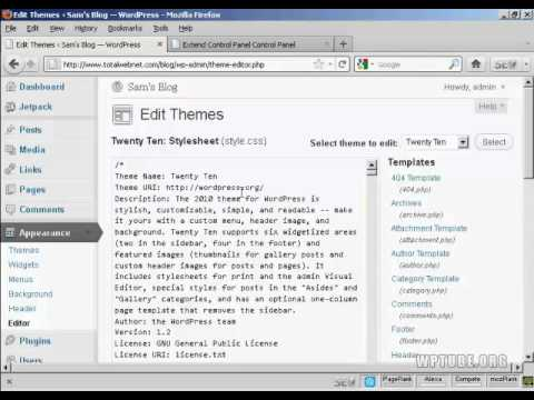 How to edit styles file of your wordpress theme youtube how to edit styles file of your wordpress theme pronofoot35fo Image collections