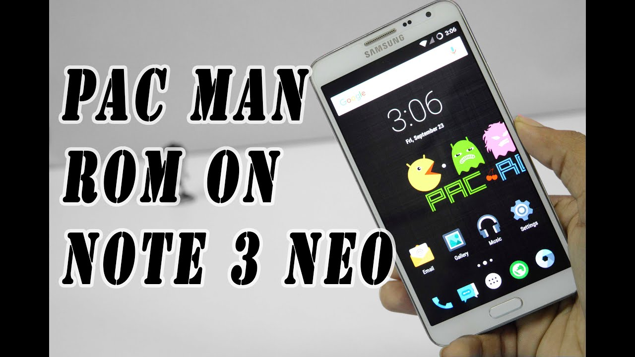 How to Install PacMan Rom On Note 3 neo