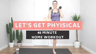 40 MINUTE BODYWEIGHT HOME WORKOUT | CARDIO & CORE