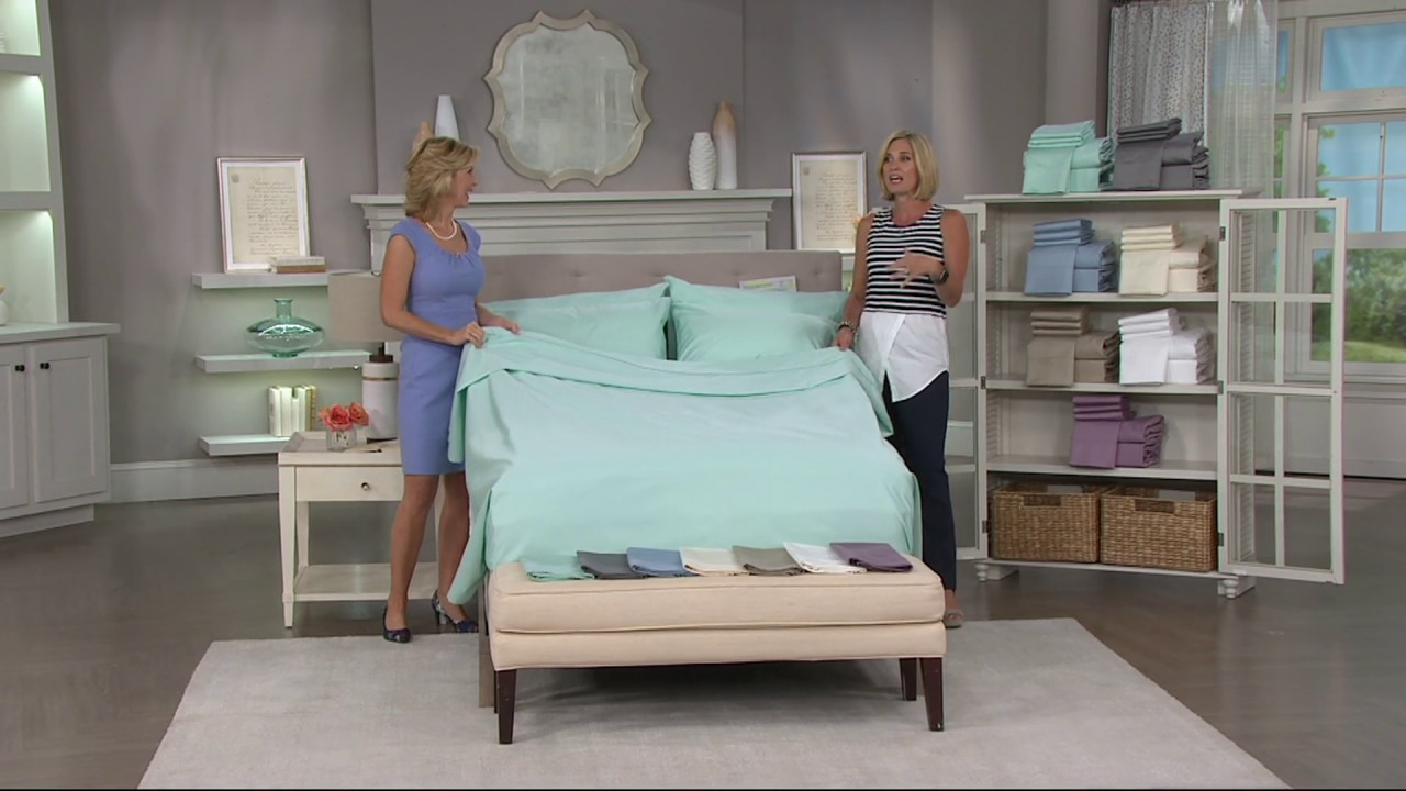 Home Reflection EasyCare 2000TC Cooling Sheets w/ Extra Cases on QVC ...