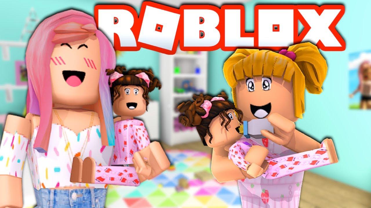 Familia Roblox Rutina de Bebe Bloxy en Bloxburg con Goldie & Titi