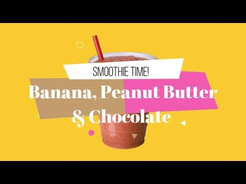 🍨Chocolate, Banana, & Peanut Butter Smoothie