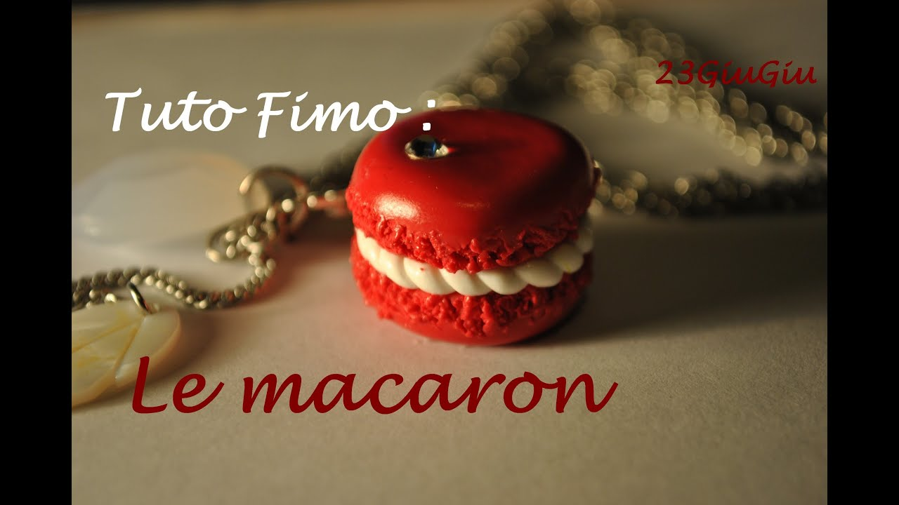tuto fimo no l le macaron youtube. Black Bedroom Furniture Sets. Home Design Ideas