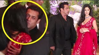 Salman Khan And Katrina Kaif HUG At Sonam Kapoor Reception