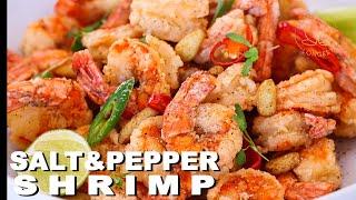 The BEST Salt and Pepper Shrimp EVER SO CRISPY!!