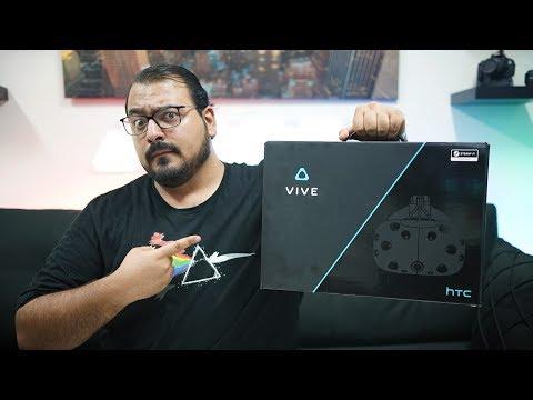 فتح صندوق و تجربة أولى للـ HTC Vive!