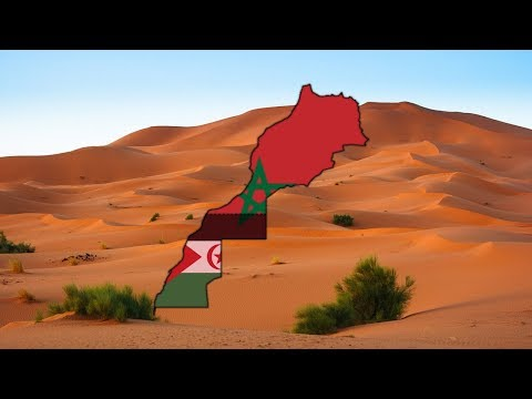 Morocco and Western Sahara - Flag Map Speed Art