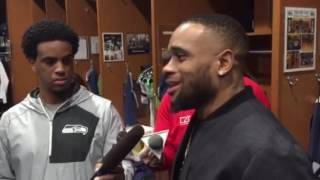 VIDEO of Thomas Rawls during locker clean out Sunday