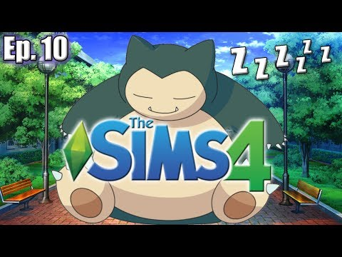 WAKING UP SNORLAX - The Sims 4: Pokemon Theme (Gen 1) - Ep. 10