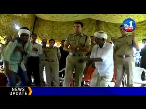 Adilabad District SP Vikramjeet Duggal Dance Performance || No.1 News