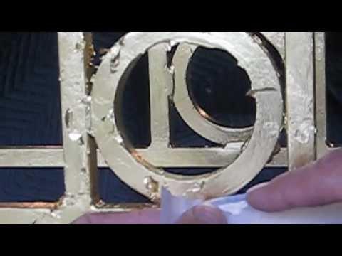 Applying Genuine Gold leaf or Imitation Gold leaf to metal surfaces.