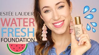NEW! ESTEE LAUDER DOUBLE WEAR NUDE WATER FRESH FOUNDATION REVIEW | ALLIE G BEAUTY