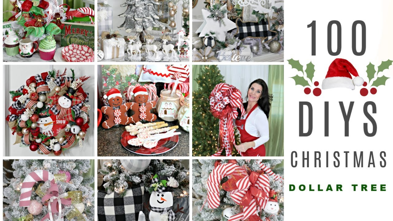 "🎄100 DIY DOLLAR TREE CHRISTMAS DECOR CRAFTS 🎄""I Love Christmas"" ep 14 Olivia's Romantic Home DIY"