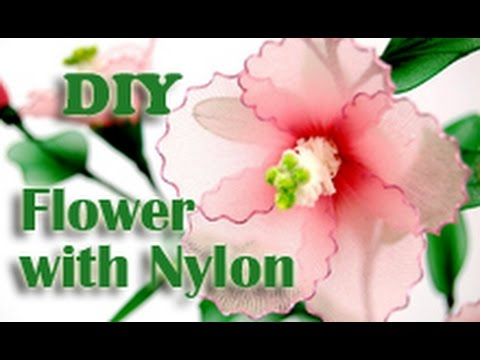 How to Make Nylon Stocking Flower - Hibiscus