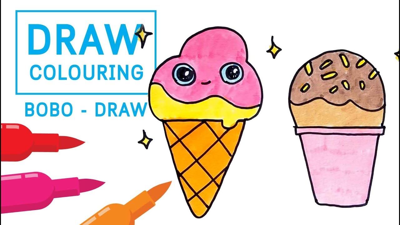 How To Draw Coloring Pages For Kids