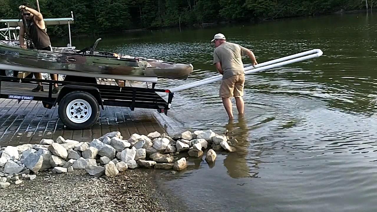 Kayak Trailer Loading Ramp Diy Youtube