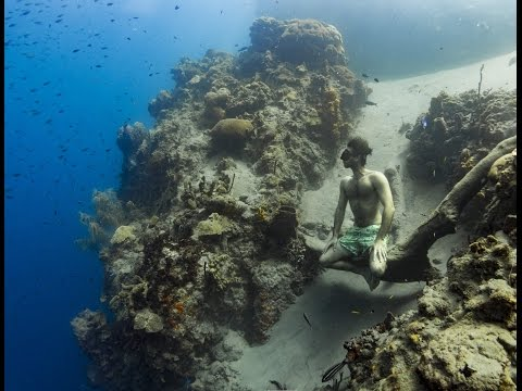 Adam Stern 104 metre dive in Dominica