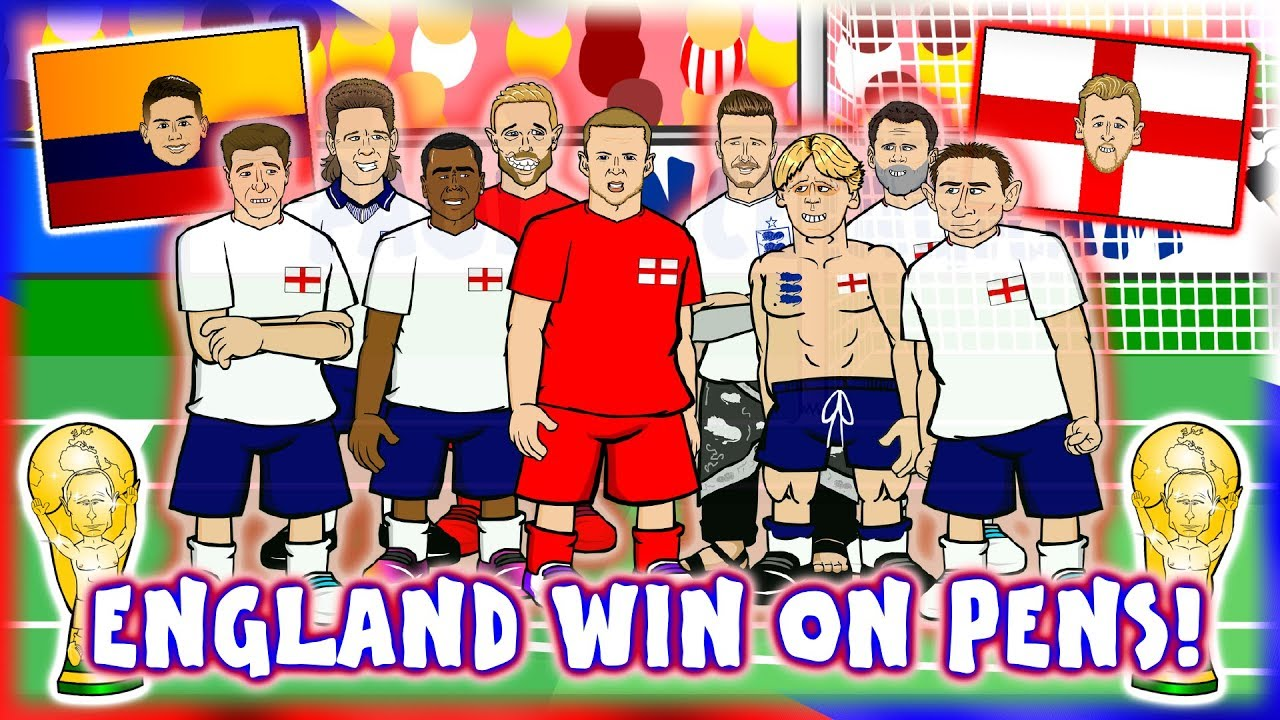 😮ENGLAND WIN ON PENS!😮 (England vs Colombia 1-1 World Cup Highlights)