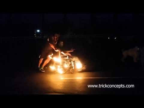 Flaming Wheel Chair  Trick Concepts