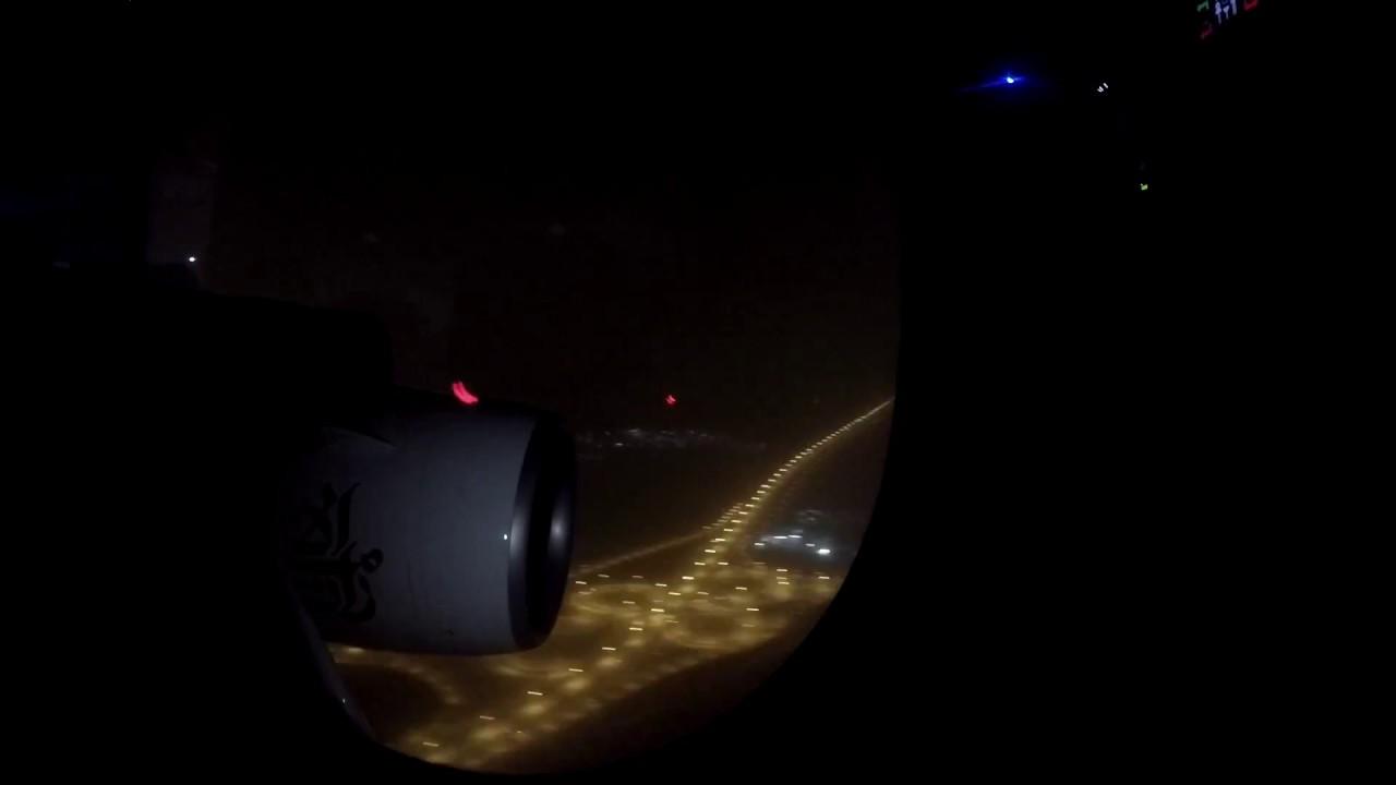 Download Emirates A380 Landing on Dubai International Airport  Timelapse