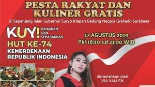 Pesta Rakyat Surabaya 2019, Kuliner gratis bersama Via vallen