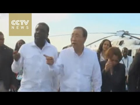 UN Secretary General Ban Ki-moon promises aid for hurricane victims