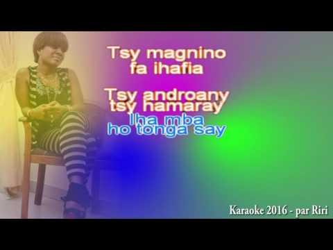 Black Nadia - Tiako fa tsy iadanako (Karaoke by Riri)