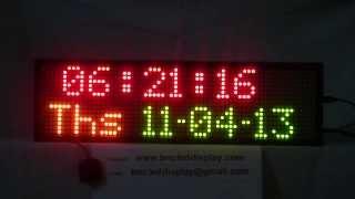 GPS Dot-Matrix Digital Clock