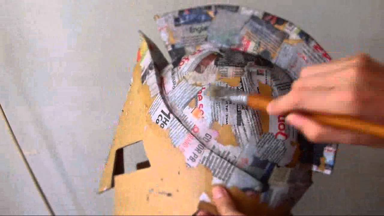 How To Make Cardboard Helmet Of King Leonidas Part 3