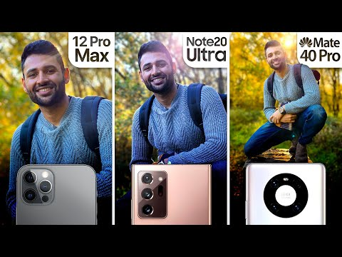 iPhone 12 Pro Max vs Samsung Note 20 Ultra / Huawei Mate 40 Pro Camera Test Comparison.
